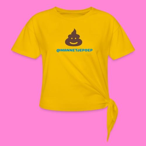 Mannetje Poep Shit - Geknoopt shirt