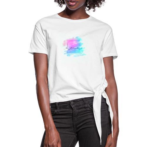 Paint - Love - Dame knot-shirt