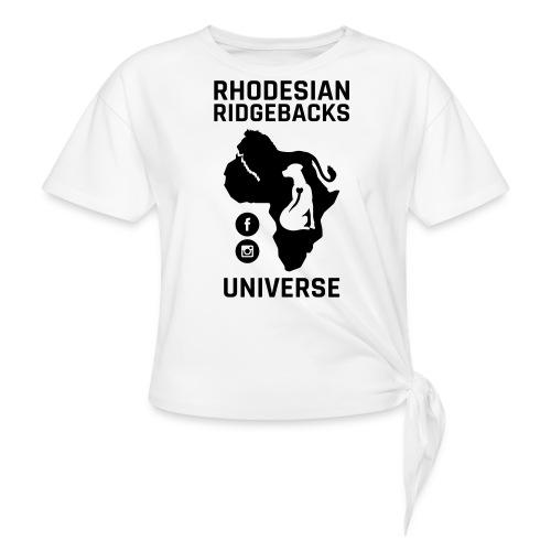 RRU - T-shirt med knut dam