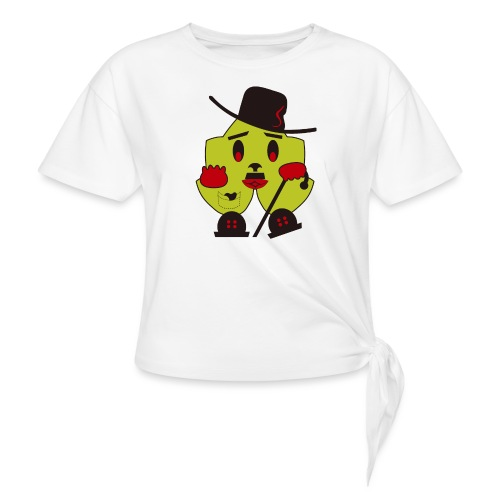 charly, charlot, ecológico y simpático - Camiseta con nudo mujer