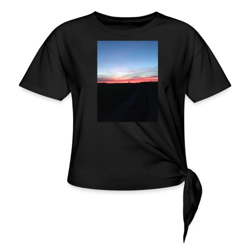 late night cycle - Women's Knotted T-Shirt