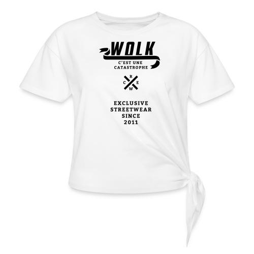 varsityx04 - Vrouwen Geknoopt shirt