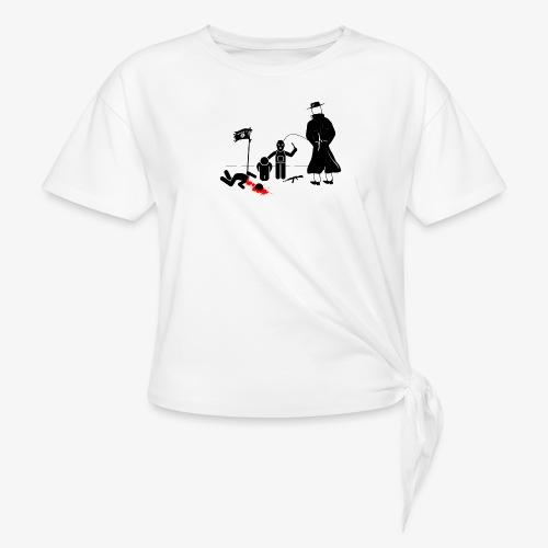 Pissing Man against terrorism - Frauen Knotenshirt