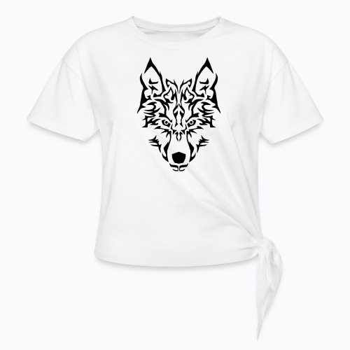Tribal Wolf - T-shirt à nœud Femme