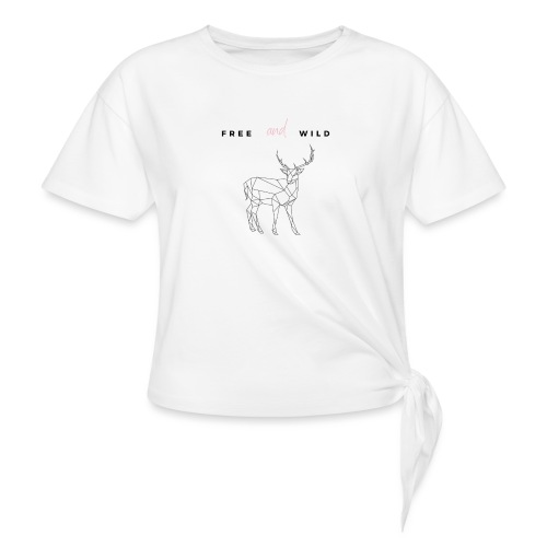 FREE and WILD - Camiseta con nudo mujer