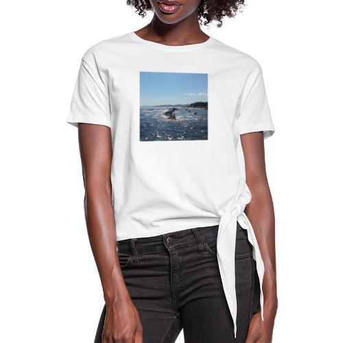 Mer avec roches - T-shirt à nœud