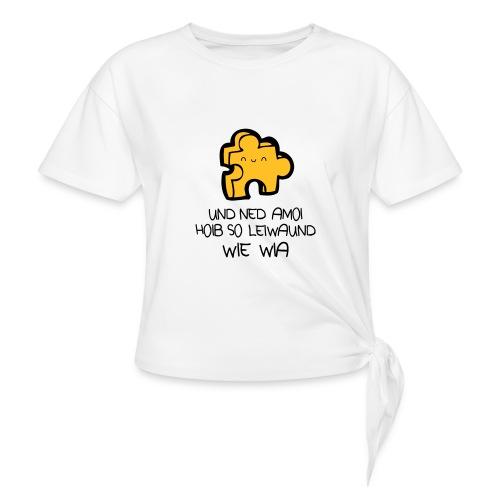 Vorschau: beste freind - Frauen Knotenshirt