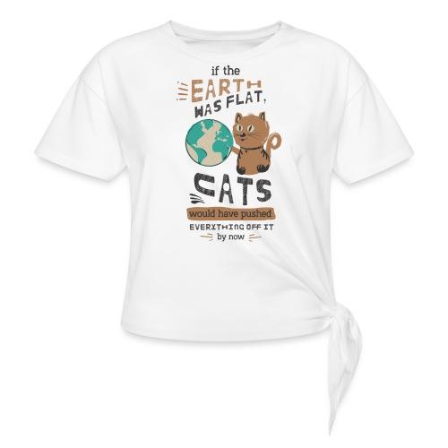 IF THE EARTH WAS FLAT - Knute-T-skjorte for kvinner