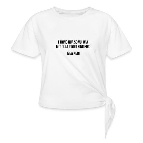 Vorschau: Klassiker Sprüche - Frauen Knotenshirt