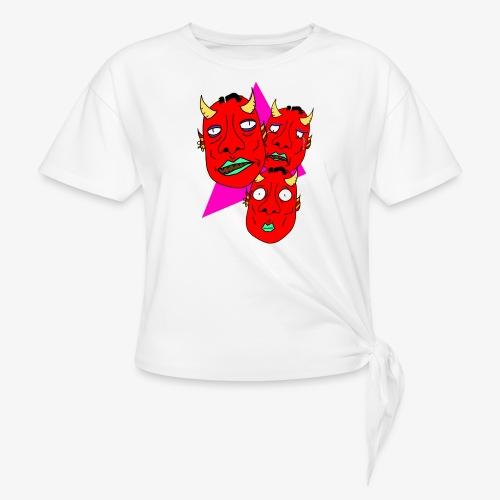 The Three Devils - T-shirt med knut dam
