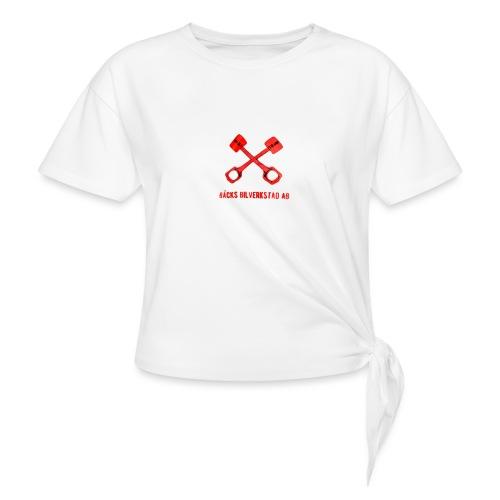 Bäcks bilverkstad - T-shirt med knut dam