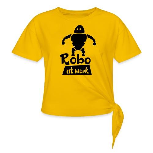 robot at work - Frauen Knotenshirt