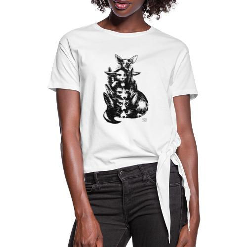 Wüstenfuchs Bande - Frauen Knotenshirt