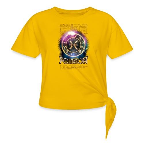 POISSONS - T-shirt à nœud Femme