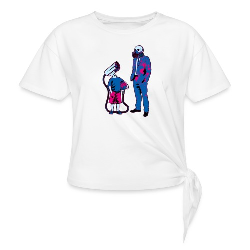 Littele Brother Big Brother - Vrouwen Geknoopt shirt