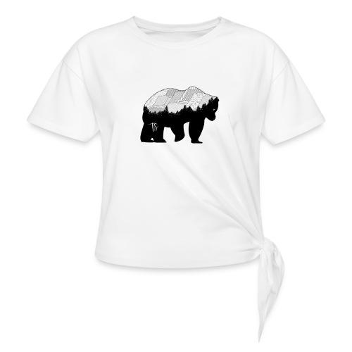Geometric Mountain Bear - Maglietta annodata