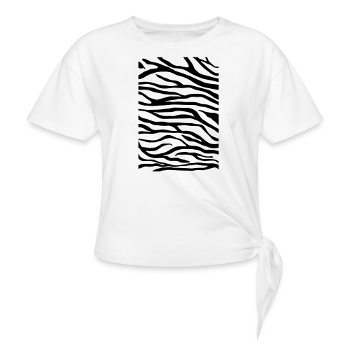 zebra v6 - Vrouwen Geknoopt shirt