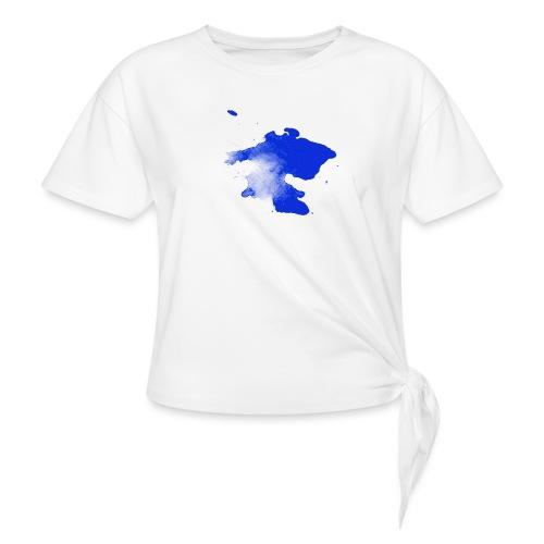 ink splatter - Knotted T-Shirt