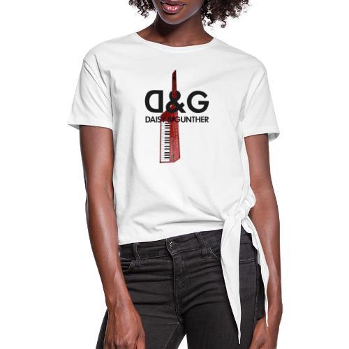Met keytar-logo - Vrouwen Geknoopt shirt