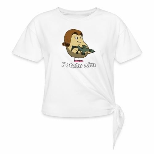 Mrs Potato Aim - Knotted T-Shirt
