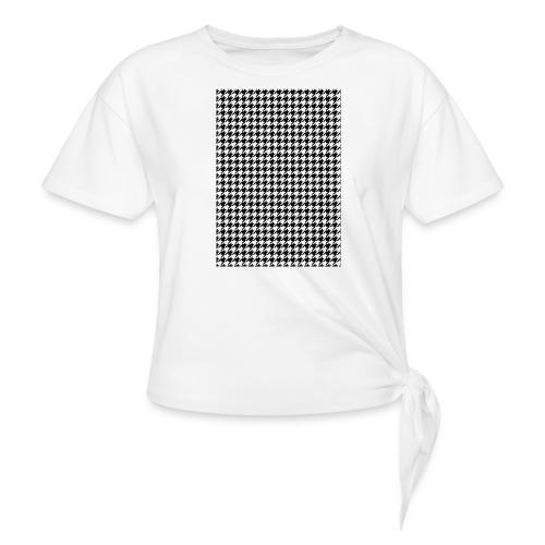 pied de poule v12 final01 - Vrouwen Geknoopt shirt