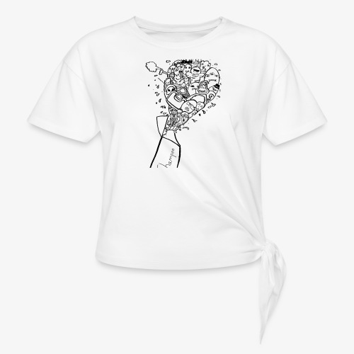 shampoo doodles - Knotted T-Shirt