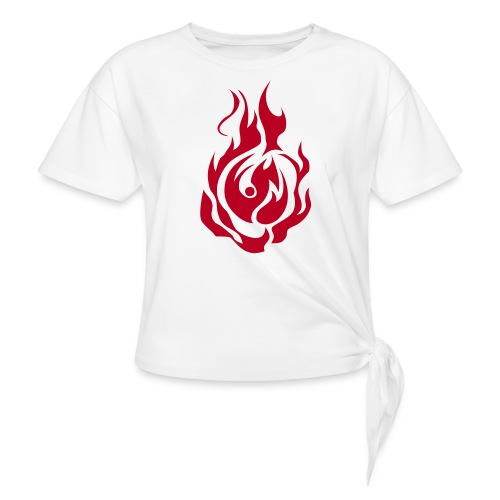 feu - T-shirt à nœud Femme