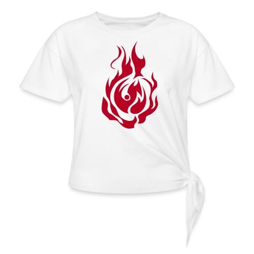 feu - T-shirt à nœud
