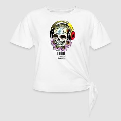 smiling_skull - Women's Knotted T-Shirt