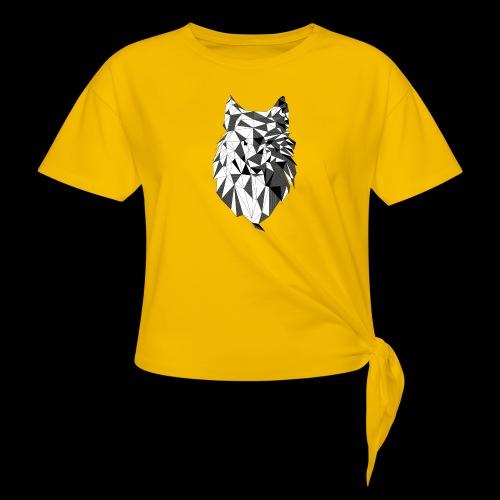 Polygoon wolf - Vrouwen Geknoopt shirt