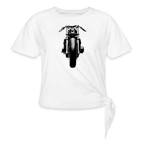 Motorcycle Front - Knotted T-Shirt