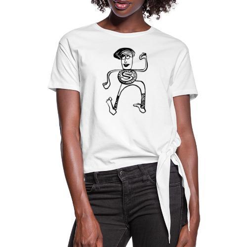 Super Pino - Maglietta annodata da donna