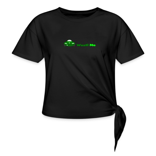 wash me - Women's Knotted T-Shirt