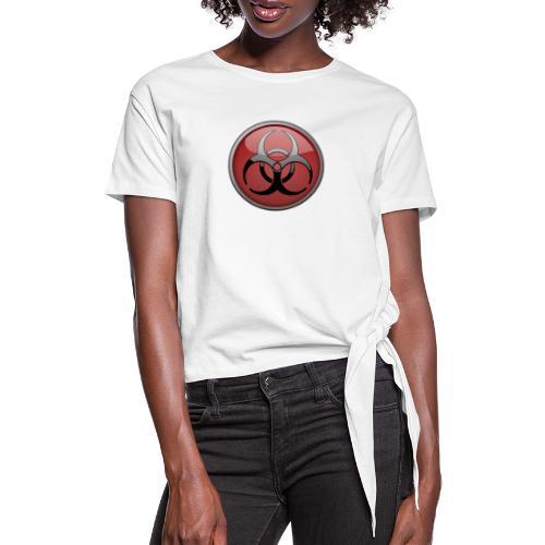 DANGER BIOHAZARD - Frauen Knotenshirt