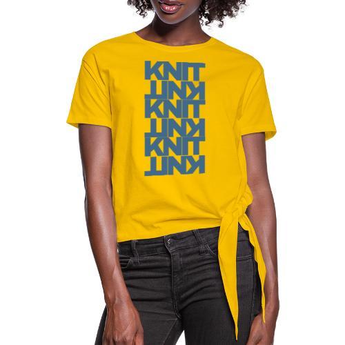 Garter Stitch, dark - Women's Knotted T-Shirt
