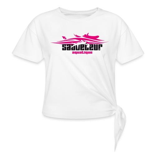 sauveteur aquatique - T-shirt à nœud Femme