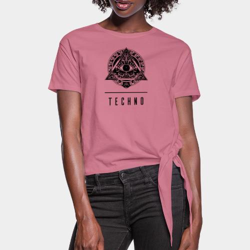 the EYE of TECHNO - Frauen Knotenshirt