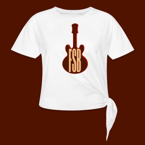 FSB Guitar Logo - Women's Knotted T-Shirt