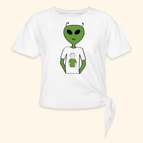 Alien human T shirt - T-shirt med knut dam