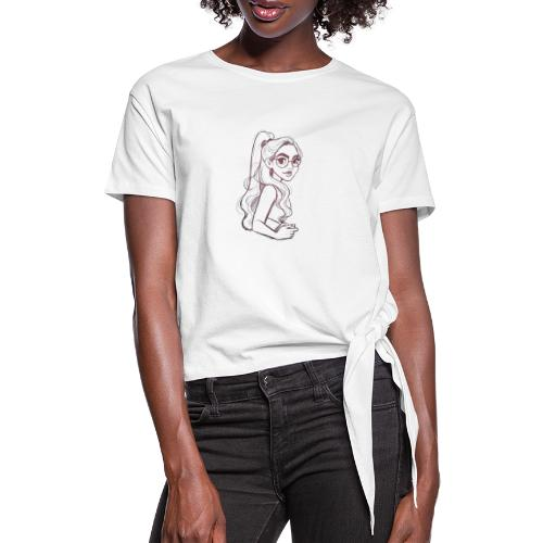 drawing of girl - Dame knot-shirt