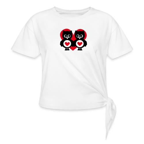 verliebte Eulen - Knotenshirt