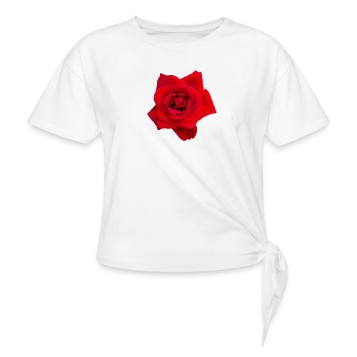 Red Roses - Koszulka z wiązaniem
