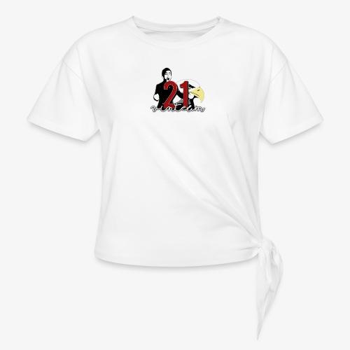 Vinte Um - Women's Knotted T-Shirt