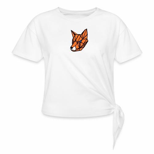 renard geometrique - T-shirt à nœud Femme