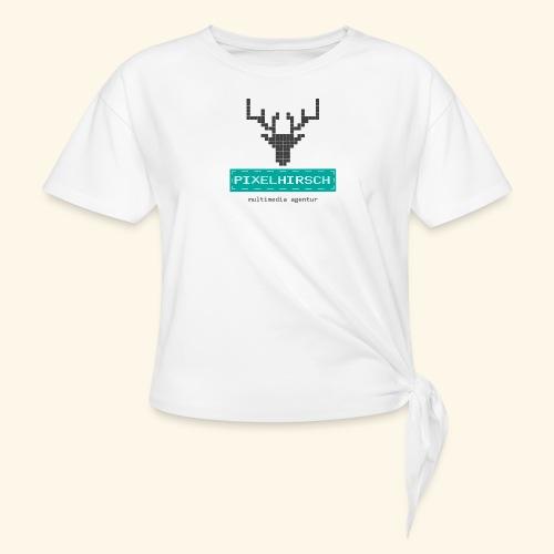 PIXELHIRSCH - Logo - Knotenshirt