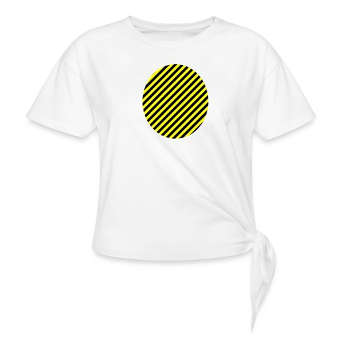 varninggulsvart - T-shirt med knut