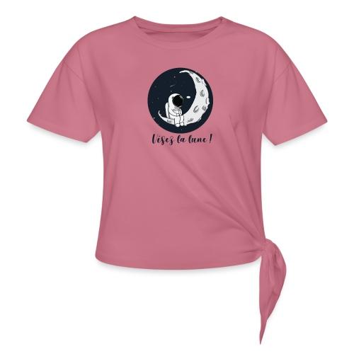 Visez la lune ! - T-shirt à nœud Femme
