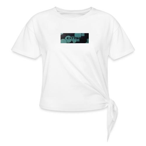 Extinct box logo - Women's Knotted T-Shirt
