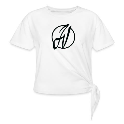 JV Guitars - logo noir - T-shirt à nœud
