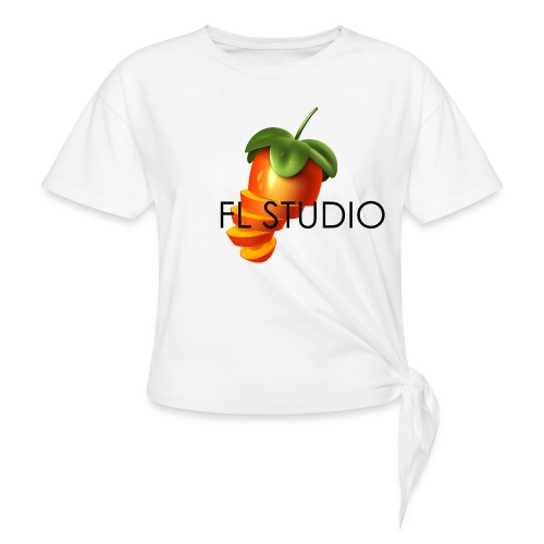 Sliced Sweaty Fruit - Women's Knotted T-Shirt